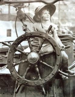 Ann at the wheel