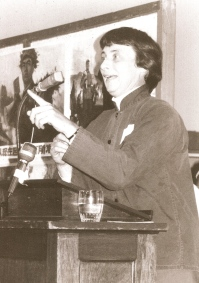 Ann lecturing